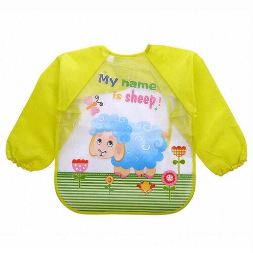 Baby Kleinkind Kinder Wasserdichte Langarm Lätzchen Ärmellätzchen abwaschbar DIY