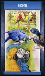 Mon ChéRi Sierra Leone 2018 Parrots Souvenir Sheet Mint Nh
