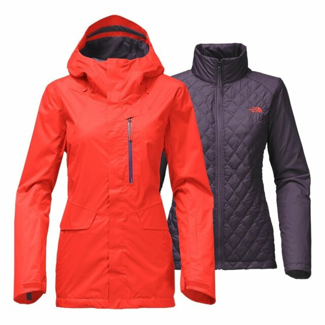 The North Face Women s Thermoball Snow Triclimate Ski Jacket Fire Brick Red  M 10 for sale online  85c64a62a