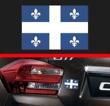 "4"" Quebec Province Flag Vinyl Decal Bumper Sticker QC Canada Macbook Car Sticker"