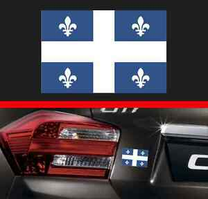 "4"" Quebec Province Flag Vinyl Decal Bumper Sticker QC Canada Macbook Car Sticker"