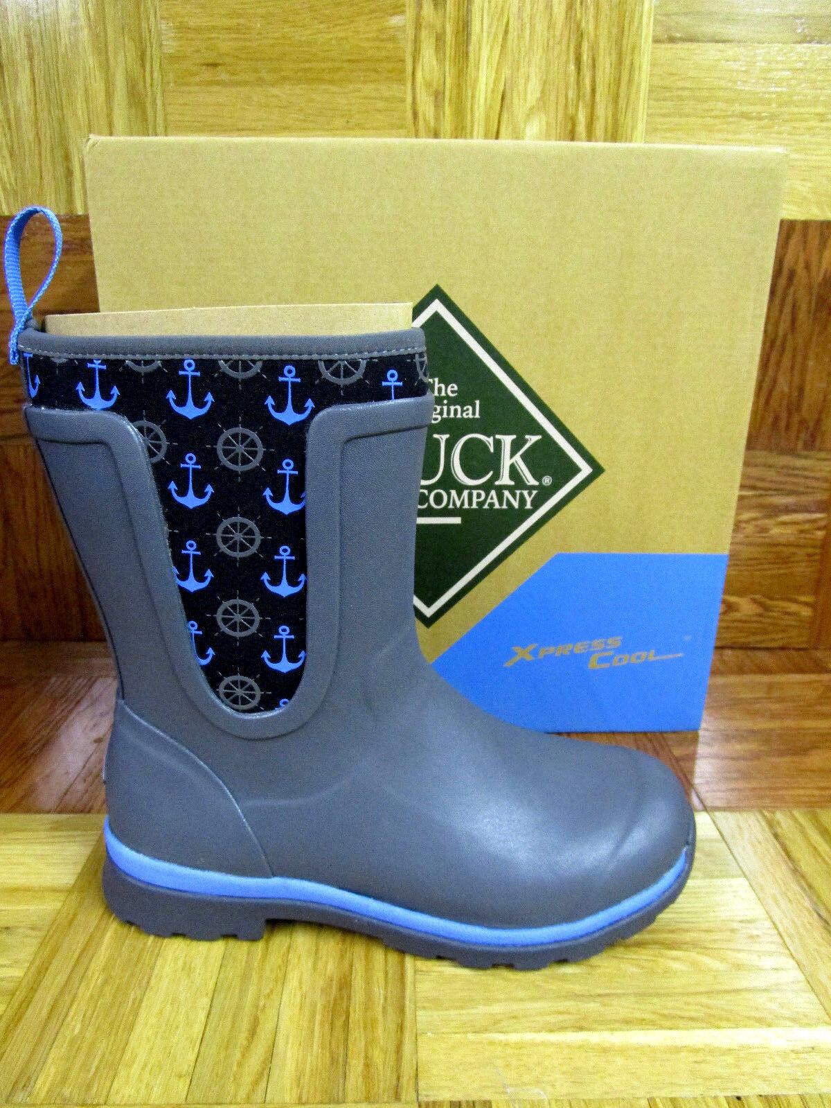 mas preferencial Muck botas para Mujer Cambridge Mid Premium botas De Lluvia Lluvia Lluvia gris Azul anclas  precio mas barato