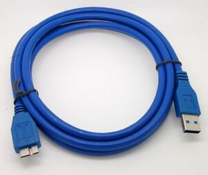 3 //6//10ft Standard USB 3.0 Male Type A to Micro B Cable Blue High Speed 5Gbps