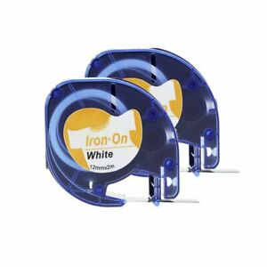 2PK-18771-Iron-on-Fabric-Labels-Compatible-with-Dymo-LT-LetraTag-Printers-12mm