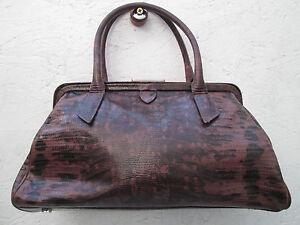 Vintage Cuir Sac Biasia Original Tbeg Bag Francesco À Main qUxW76p