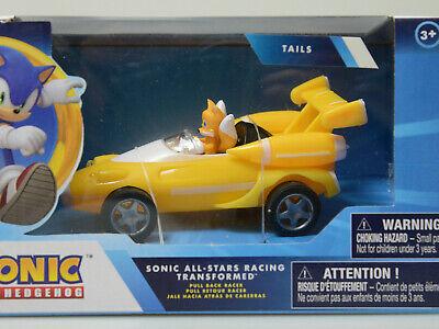 "Mini 4/"" Sonic the Hedgehog Movie SEGA Racing Pull Back Speed Racer Car Tails"