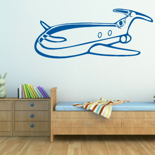 Large Boys Wall Sticker bn4 Removable Art Decor Aeroplane Boys Wall Transfer
