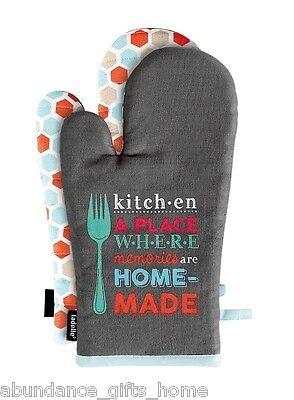 Good Food Oven Mitt 2 pk Cotton Kitchen Set by Ladelle *NEW*