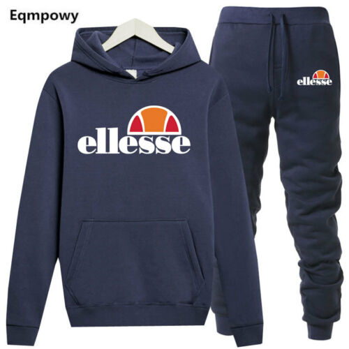 ellesse Tracksuit Sportswear Men Set Hoodie Pant Pullover Sweatshirts Outwear