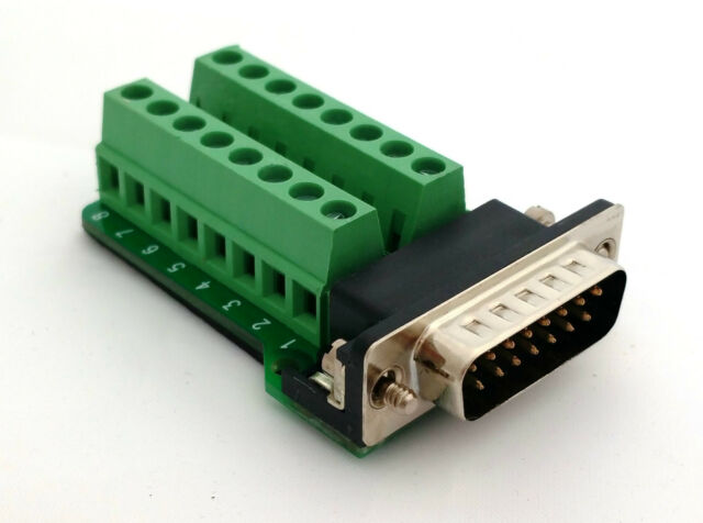 DB15 DSUB 15-pin Male Adapter RS-232 Breakout Board Connector D7: £6.75 FREE p&p