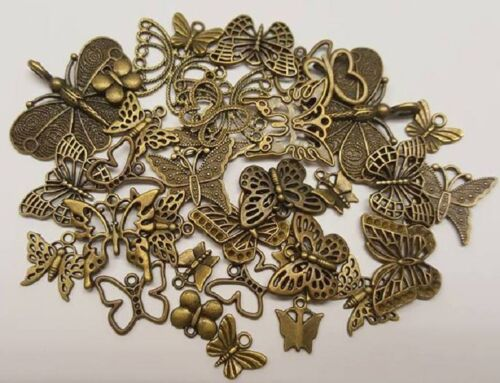 50g Mixed Design Bronze Butterfly Charms Pendants FREE 1st CLASS P/&P UK
