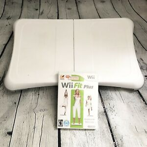 Nintendo Wii Fit Balance Board Bundle with Wii Fit Plus Tested Working