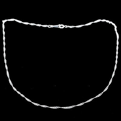 Women Hot Charms White Silver 1mm Thin Chain Necklace for Pendants Gift