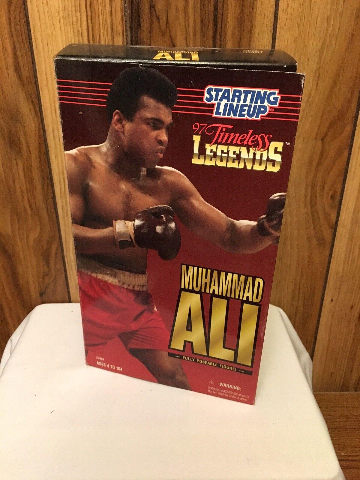 1997 Muhammad Ali 12  a partir Lineup atemporal Leyendas Figura Poseable Totalmente Nuevo En Caja