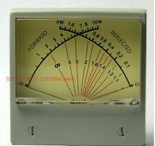 SWR Meter Panel Dual SWR Forwad 0-10W / Reflected 0-2W VU Meter 100uA