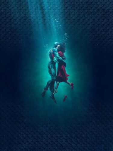 THE SHAPE OF WATER TEXTLESS MOVIE POSTER FILM ART A4 A3 PRINT CINEMA