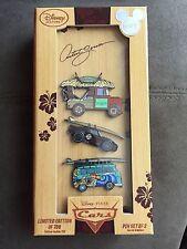 Disney 2015 D23 Expo Exclusive Disney Cars Artist Series 3 car pin set LE 700