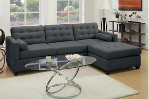 Image Is Loading Classic Style Sofa Couch Reversible Chaise Living Room