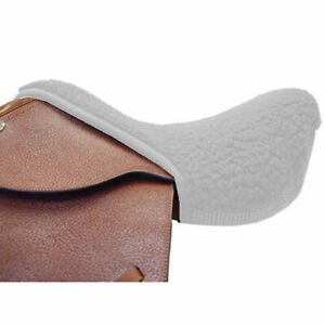 ENGLISH-HORSE-SADDLE-WHITE-OR-BLACK-FLEECE-NON-SLIP-SEAT-SAVER-PAD-CUSHION