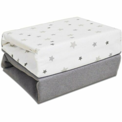 Cuddles Collection Crib Fitted Sheets 2 Pack Magical Stars