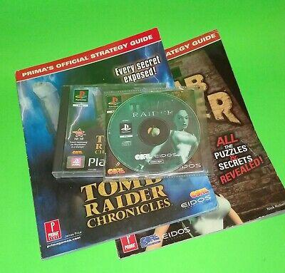 Tomb Raider Bundle Ps1 Chronicles Prima Strategy Guides Sony Lara