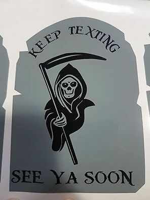 Keep Texting See You Soon Decals Stickers Graphics 6x4 Cell Phone Cases Cats Dog