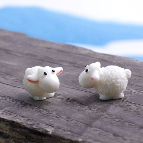 5XMini Sheep Home Micro Fairy Gardens Figurines Miniatures Homes Gardens DecorZN