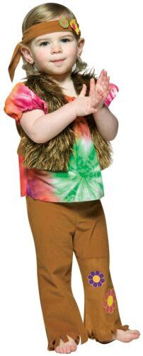 Hippie Gal Girl 60/'s Flower Child Groovy Dress Halloween Toddler Child Costume