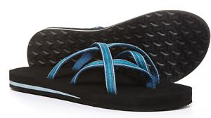 185870f19 NEW TEVA MUSH OLOWAHU SLIDE SANDALS WOMENS 10 PINTADO BLUE 6840B ...