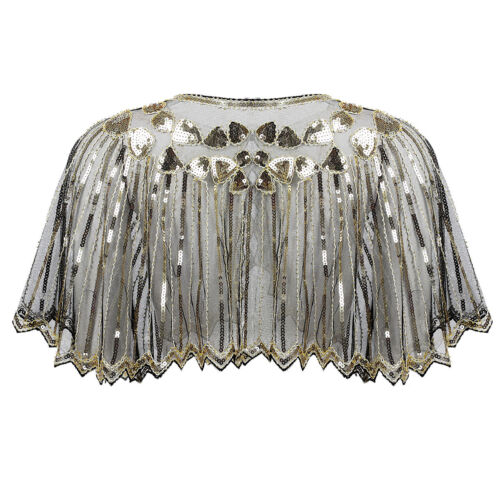 Womens Beaded Shawl Wraps Cropped Bolero Shrug Top Ladies Cardigan Evening Cape