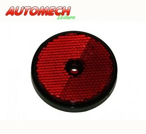 Radex-Quality-Red-Round-reflectors-As-Used-On-Many-Caravans-Motorhomes-PAIR