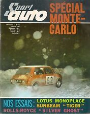 SPORT AUTO 48 1966 F1 1961 1965 SILVER GHOST ALPINE TIGER LOTUS 41 CRIT CEVENNES
