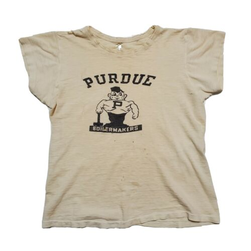 1950s Purdue Boilermakers Tshirt Vintage USA Made