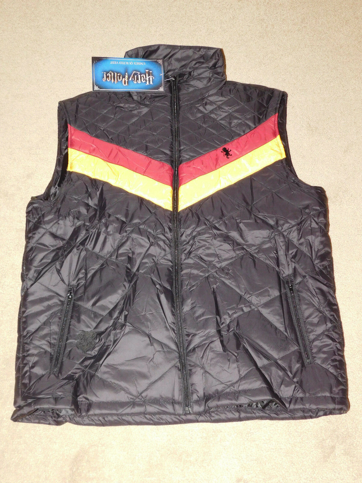 ADULT HARRY POTTER GRYFFINDOR QUILTED PUFFER VEST  - Size 3XL (New With Tags)