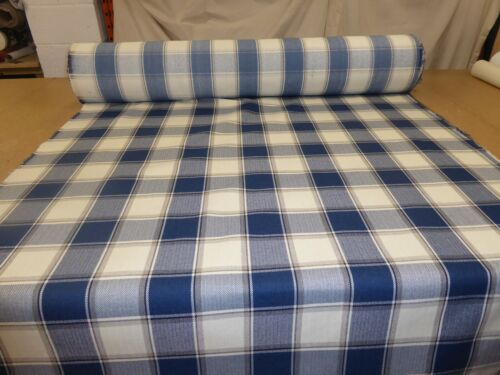 Tartan Checked Wool Effect Weave Upholstery Fabric THREE COLOURS