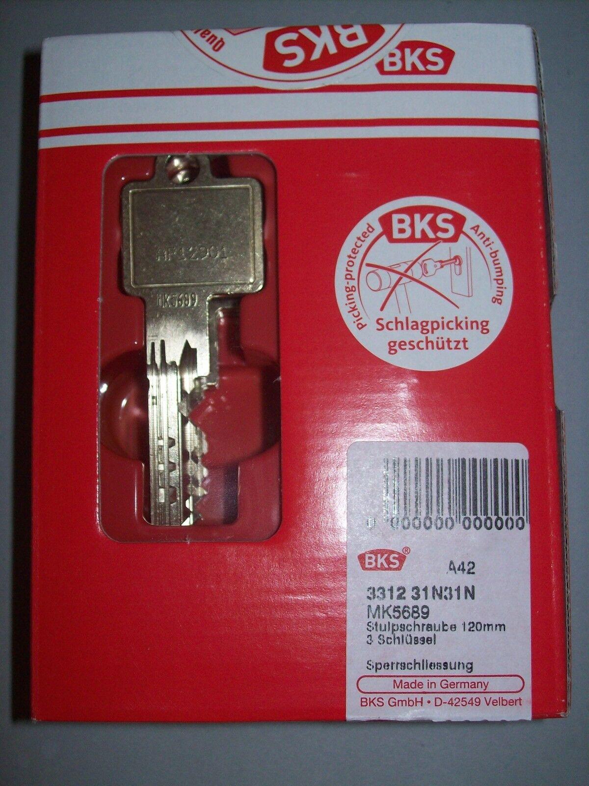 BKS detect3 SL Profilzylinder 31 31 3 Schl. Gefahrenfunktion Sicherungskarte NEU  | Neuartiges Design  | New Product 2019  | Haltbar  | Zu verkaufen