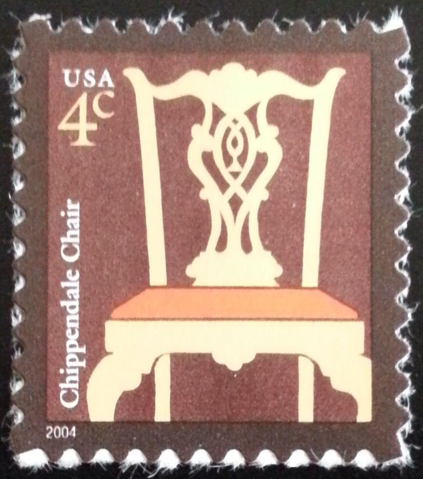 2004 4c Chippendale Chair, American Designs Scott 3755