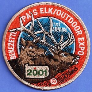 """Pa Pennsylvania Game Fish Commission NEW 4/"""" 2003 Elk Hunting Hunting Patch"""