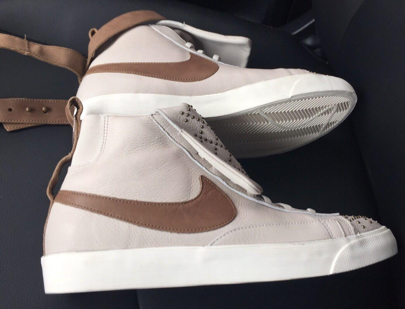 NIKE Blazer Mid PRM Twist Studs Tan Street Shoes Sneakers 599387-002