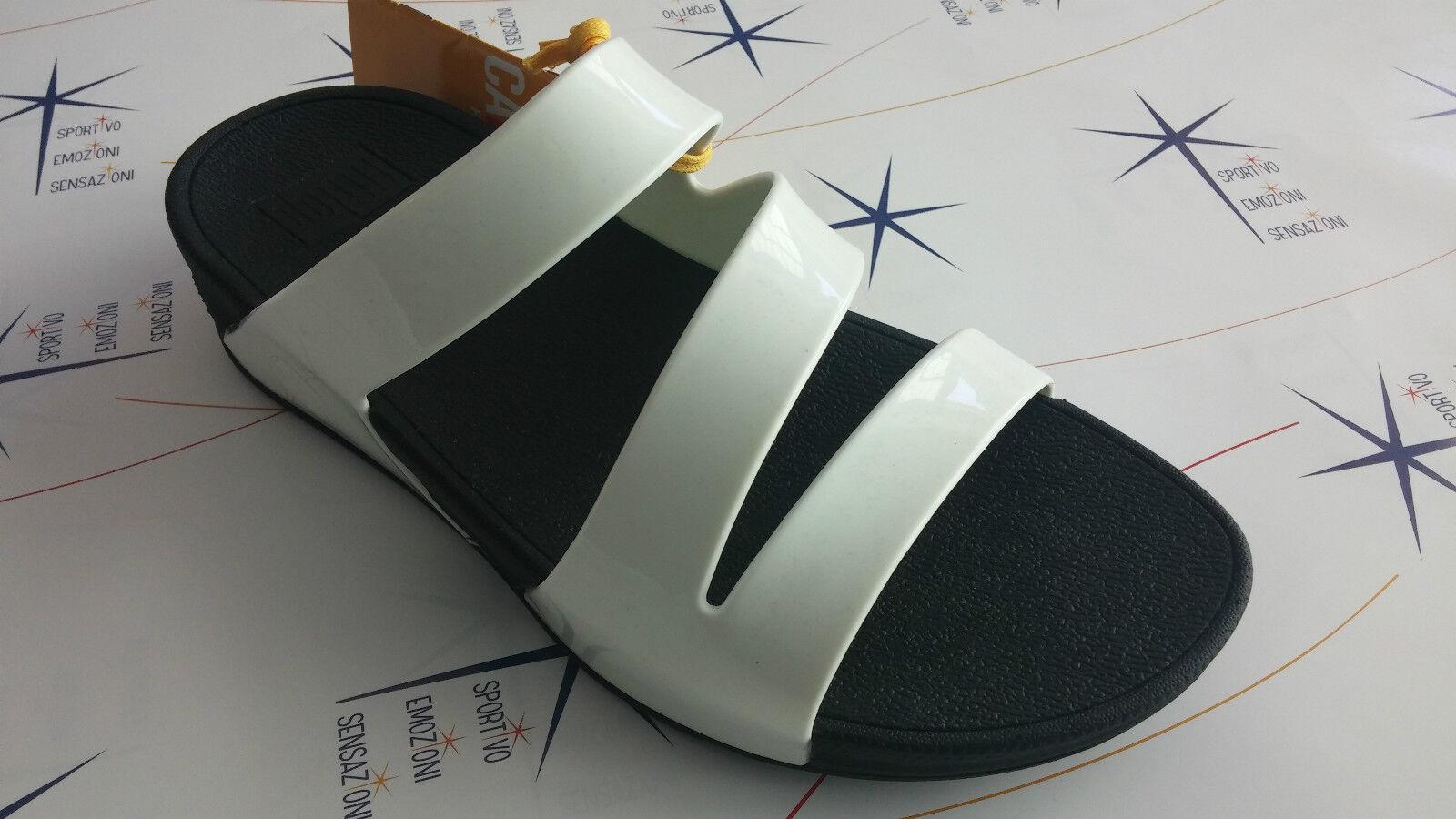 Último gran descuento Zapatillas chanclas mujer FitFlop blanco-negro bandas superjelly twist - 557 161