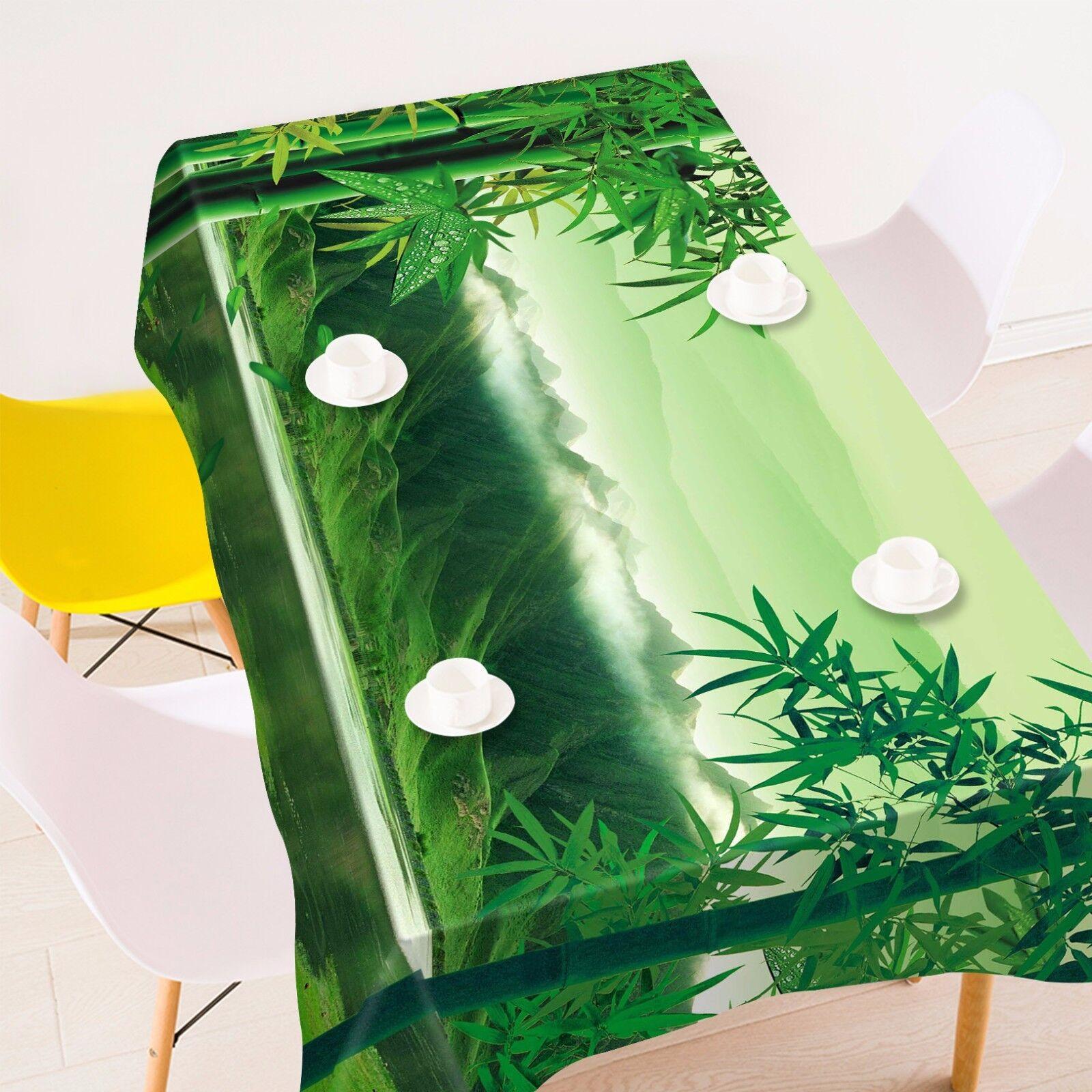3D bambou Nappe Table Cover Cloth fête d'anniversaire AJ papier peint Royaume-Uni Citron