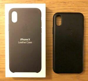 Schwarz-Apple-Echt-Original-Leder-Schutz-Huelle-Case-fuer-iPhone-X-5-8-039-039-NEU-2020