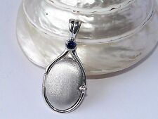 925 Sterling Silver 4 mm Lab CorundumSapphire Locket H2O Just AddWater Mermaids