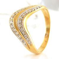 Ring in 585/- Gelbgold mit 29 Diamanten Wesselton si 0,08 ct Gr. 55