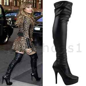 WOMENS-LADIES-BLACK-OVER-THE-KNEE-THIGH-HIGH-STILETTO-HEEL-PLATFORM-BOOTS-SIZE