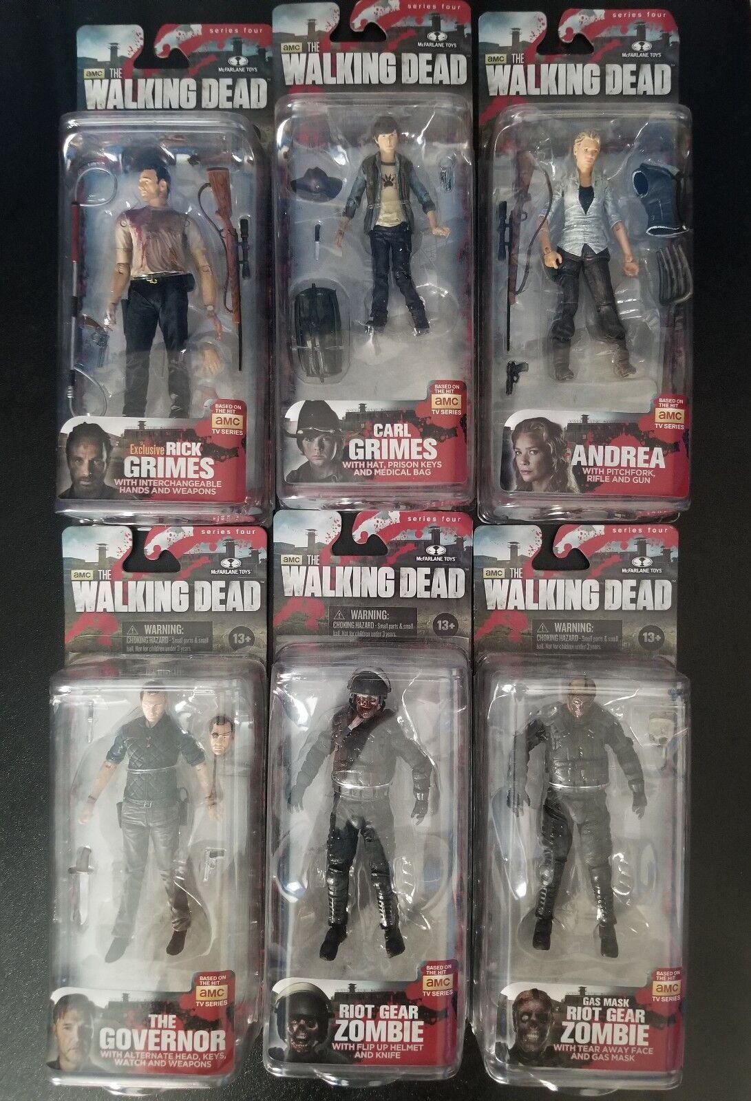 Juguetes Mcfarlane The Walking Dead Serie de Conjunto completo de 4 Figuras De Acción