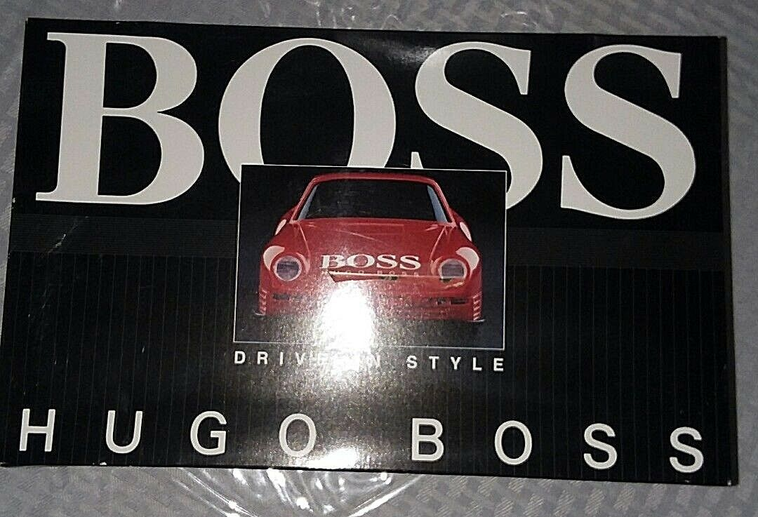 Rare Vintage  Hugo Boss  Radio Control rosso sports car  NEVER REMOVED FROM BOX