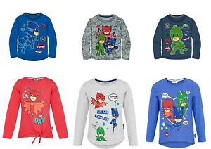 Boys-Girls-Kids-Children-Pj-Masks-Long-sleeve-Tshirt-T-shirt-Top-age-3-8-Years