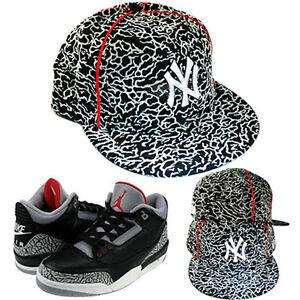 New Era New York Yankees 5950 Fitted Hat Air Jordan 3 Retro Black ... 536044a41