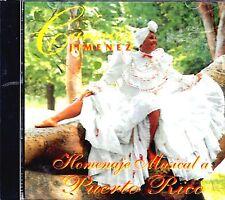Homenaje Musical a Puerto Rico * by Carmita Jimenez (CD, Oct-1999, Disco Hit)